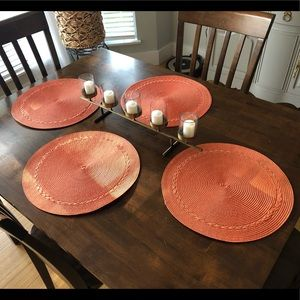Four Coral Morning Placemats